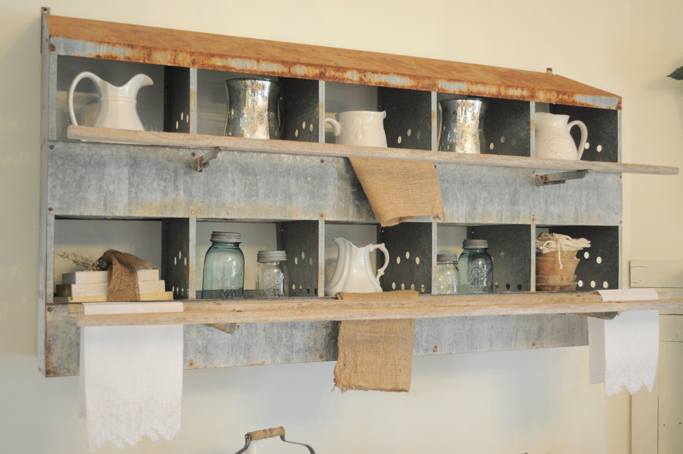 Using Industrial Items as Unique Decor - Rustic - Dining ... on kitchen ideas books, decorating ideas for collectibles, storage for collectibles, kitchen ideas family, cabinets for collectibles,