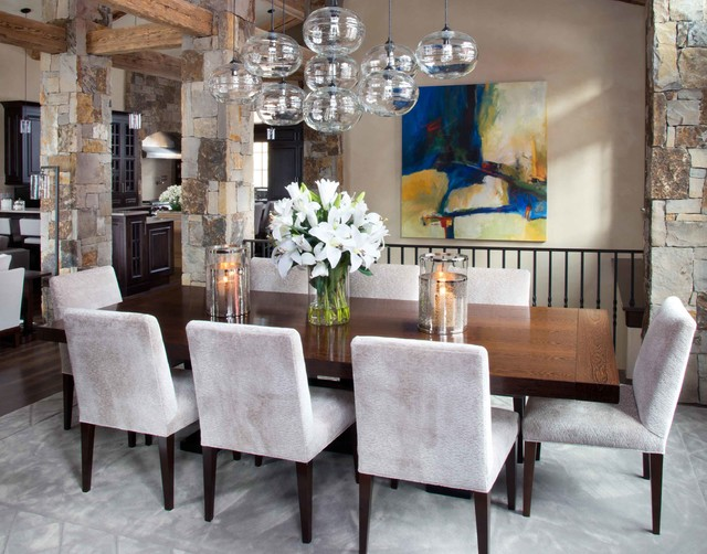 Vail CO Rustic Dining Room Denver By Slifer Designs