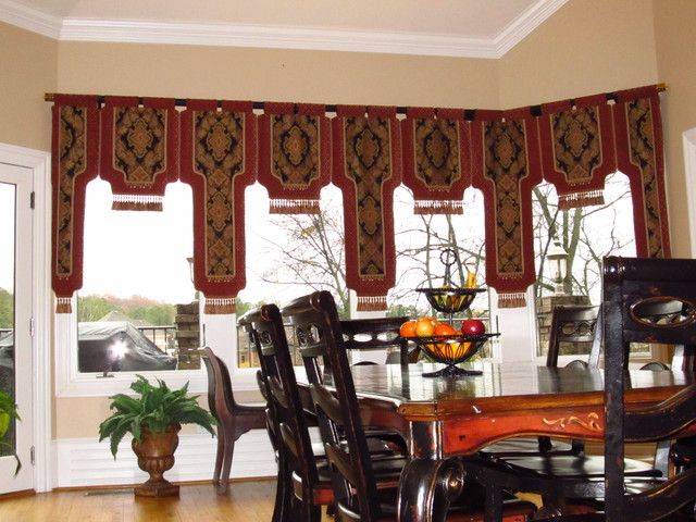 Valances eclectic dining room other metro by the for Dining room valances
