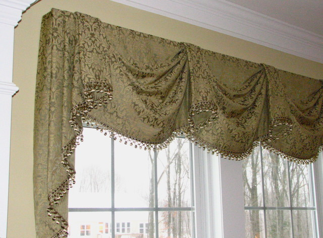valances top treatments traditional dining room bridgeport