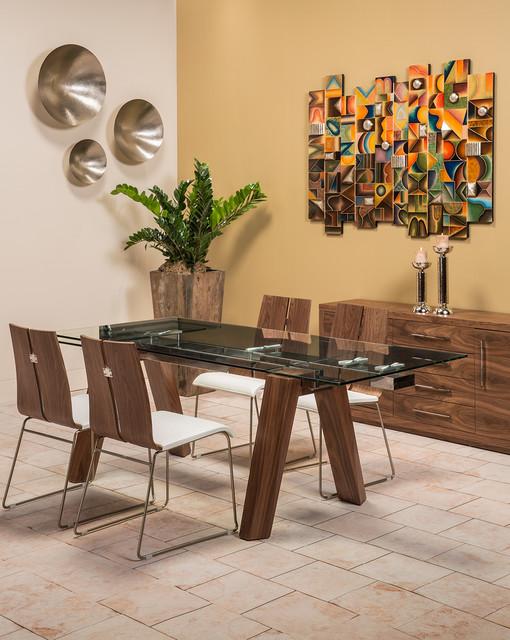 Valencia dining set modern dining room miami by el dorado furniture - Dining room sets miami ...