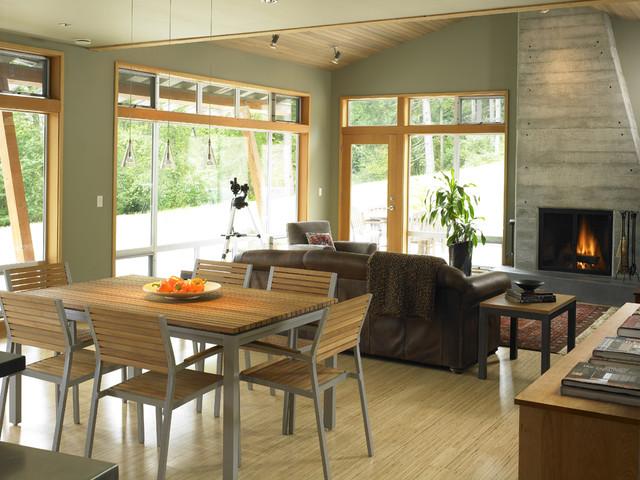 Vashon residence dining/living contemporary-dining-room