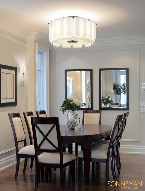 Velo 3189.01 SEMI FLUSH MOUNT   Sonneman Lighting Contemporary Dining Room
