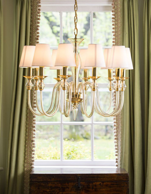 venetian glass chandelier transitional dining room other metro