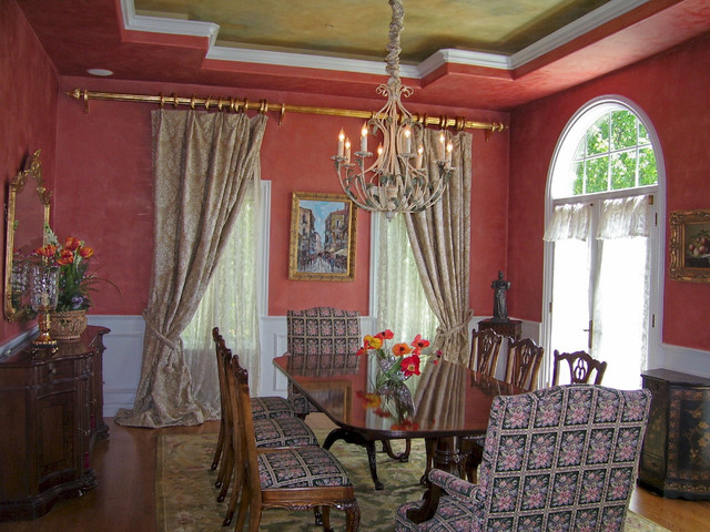 Venetian Plaster Finishes traditional dining room