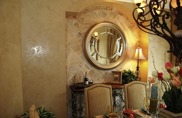 Venetian Plaster mediterranean-dining-room