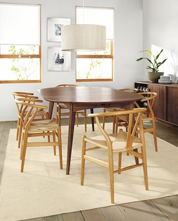 ventura dining table, wishbone chairsr&b - modern - dining ...