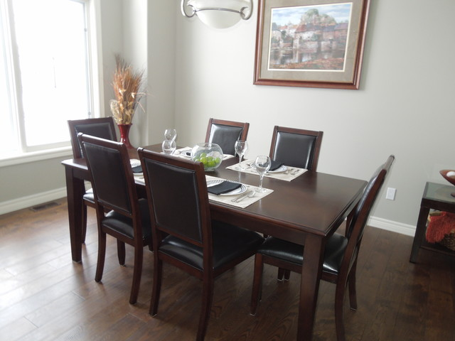 Verdonk model home winter 2015 transitional dining for Model home dining room