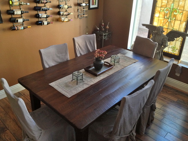 Very Rustic Reclaimed Wood Table Rustic Dining Room