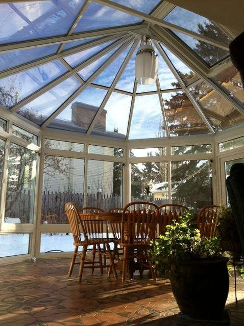Victorian Conservatory Traditional Dining Room