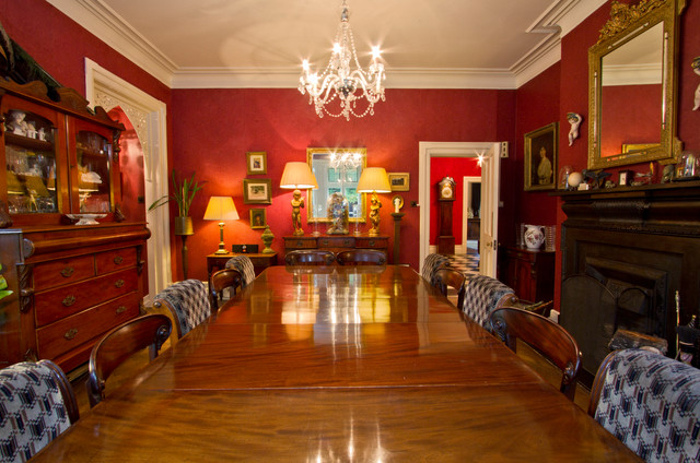 Victorian Gothic Traditional Dining Room Sus by