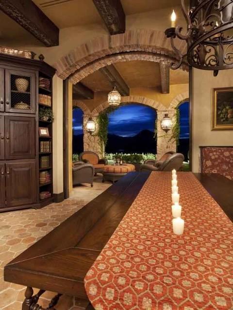 VIlla Del Cielo mediterranean-dining-room