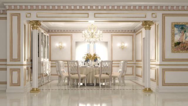 Villa classico sala da pranzo venezia di lopezi arreda for Sala arreda