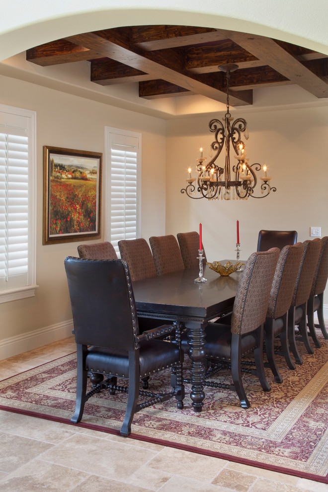 Inspiration for a mediterranean dining room remodel in Orlando