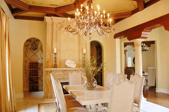 Villa Verona mediterranean-dining-room