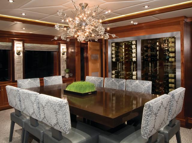 Vinotemp Custom Wine Cellar In Yacht Dining Room
