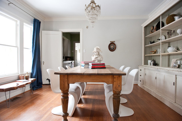 vintage and modern dining room - shabby-chic style - dining room