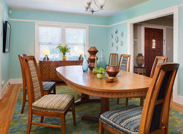 vintage bungalow mid century dining room by kimball starr