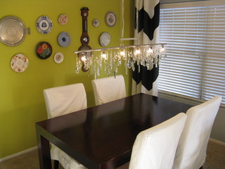 Vintage Crystal DIY Linear Chandelier with Plate Wall ...