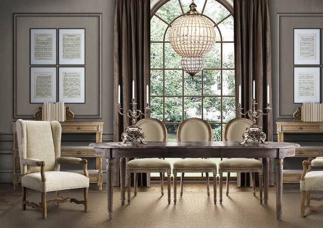 vintage french inspiration traditional dining room