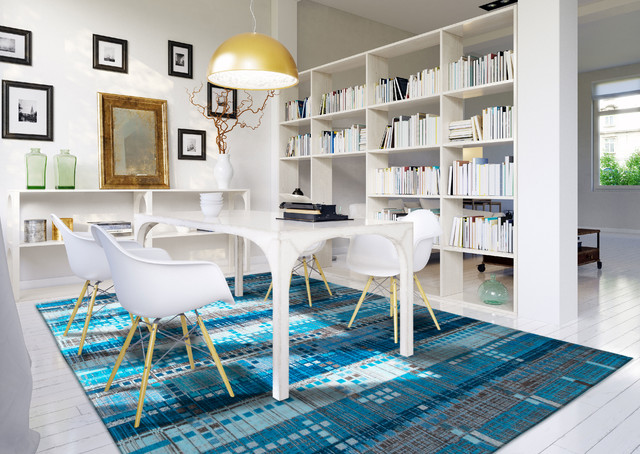 vintage geometric modern rugs contemporary dining room