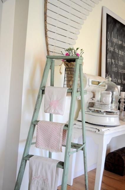 Vintage Ladder eclectic-dining-room