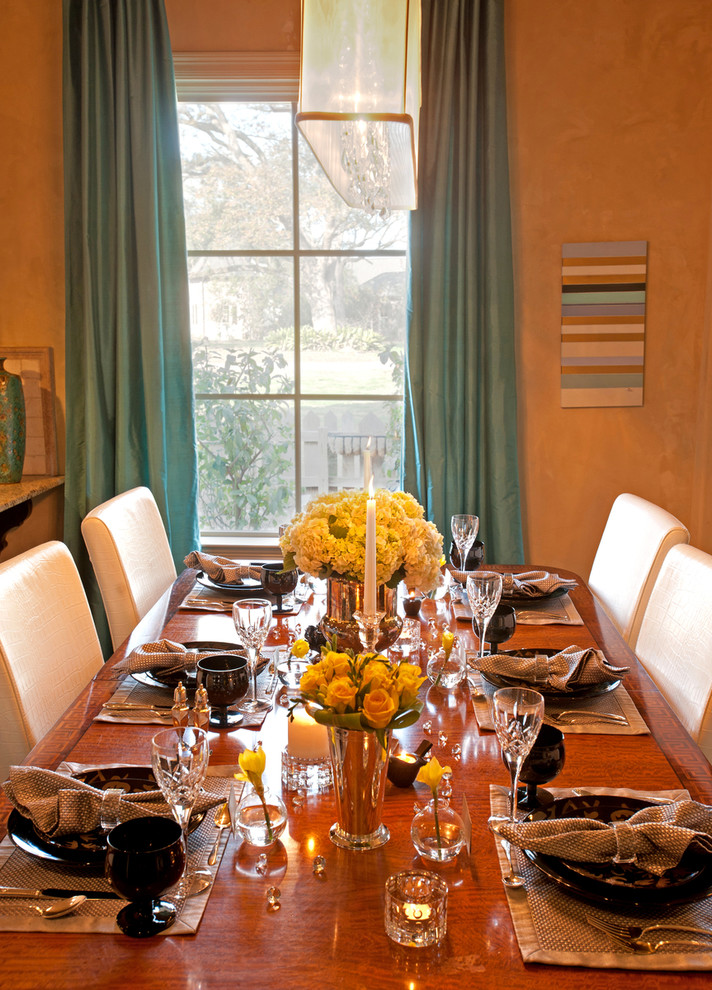 Inspiration for a transitional dining room remodel in New Orleans