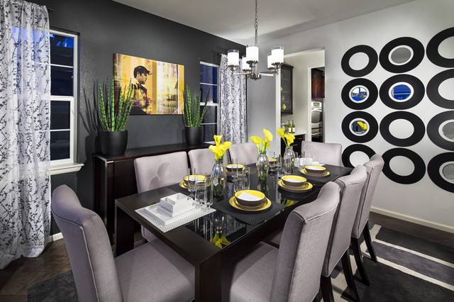 Vista ridge model home dining room contemporary dining for Homes with beautiful dining rooms