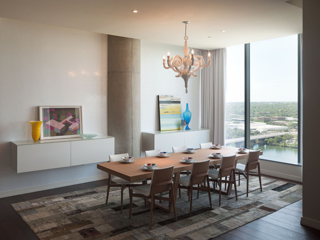 W residence dining room modern dining room austin for W austin in room dining menu