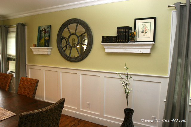 Wainscot And Picture Frames Contemporary Dining Room