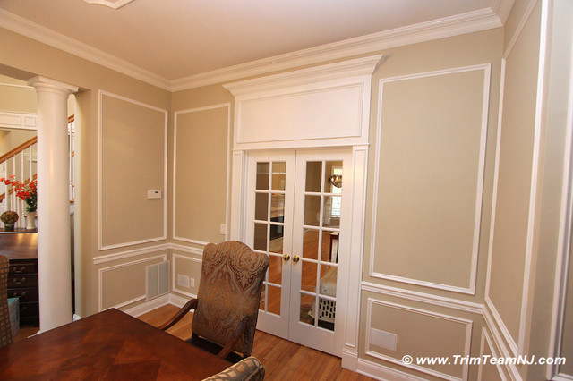 Wainscot And Picture Frames Traditional Dining Room