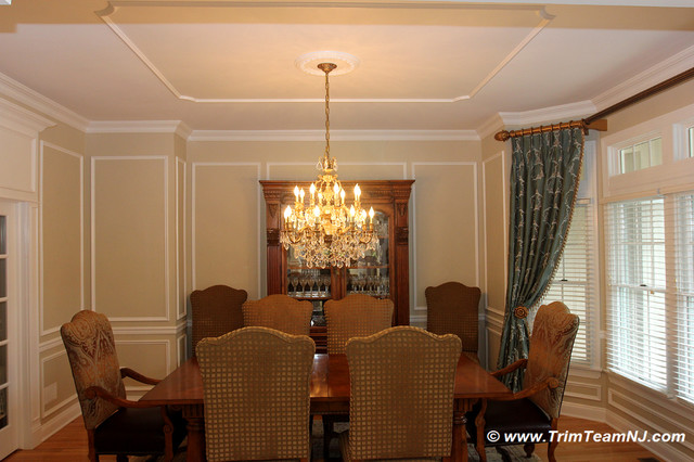 Wainscot and Picture Frames traditional-dining-room