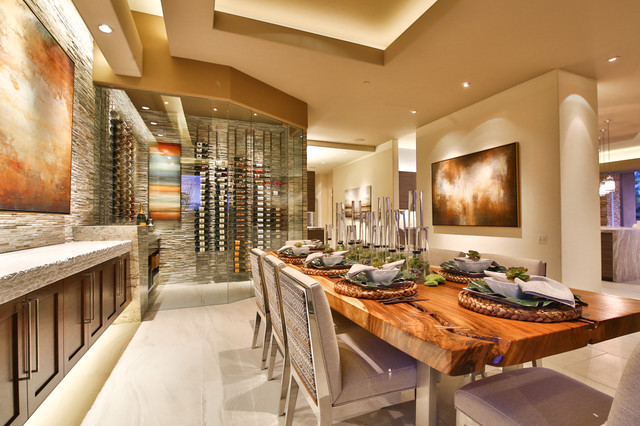 Walk In Wine Room Contemporary Wine Cellar Los