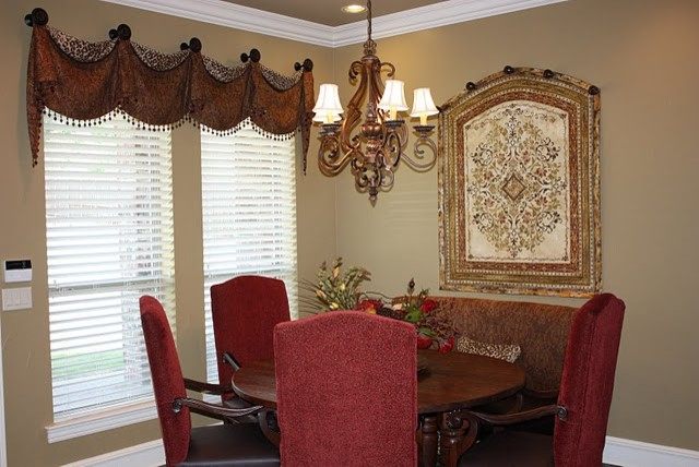 Wall art traditional dining room san diego by luxe for Dining room wall art images