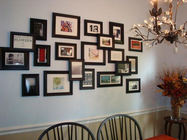 Ideas For Grouping Pictures On A Wall Dining Room Other Metro