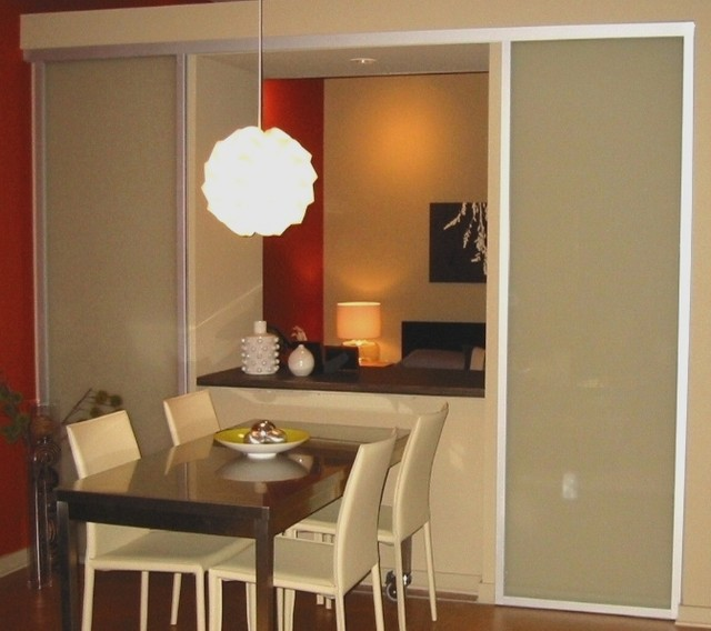 Wall Slides contemporary-dining-room