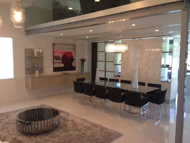 wall units contemporary dining room miami by metro