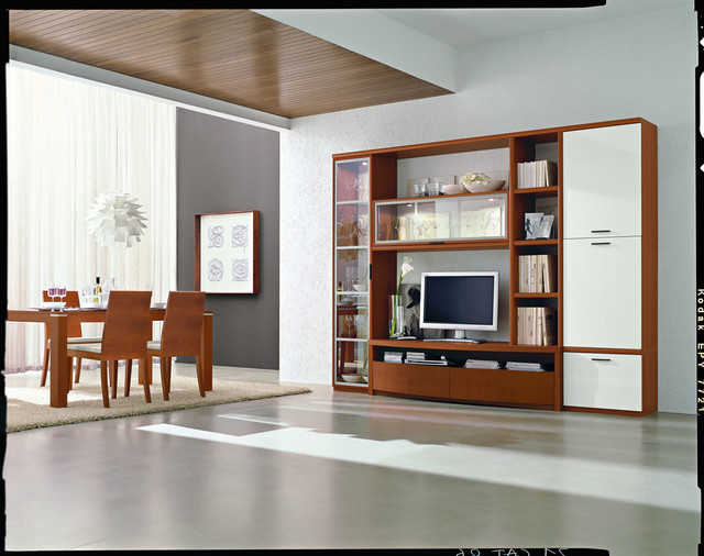 Wall Units Contemporary Dining Room Miami By Space Design Miami