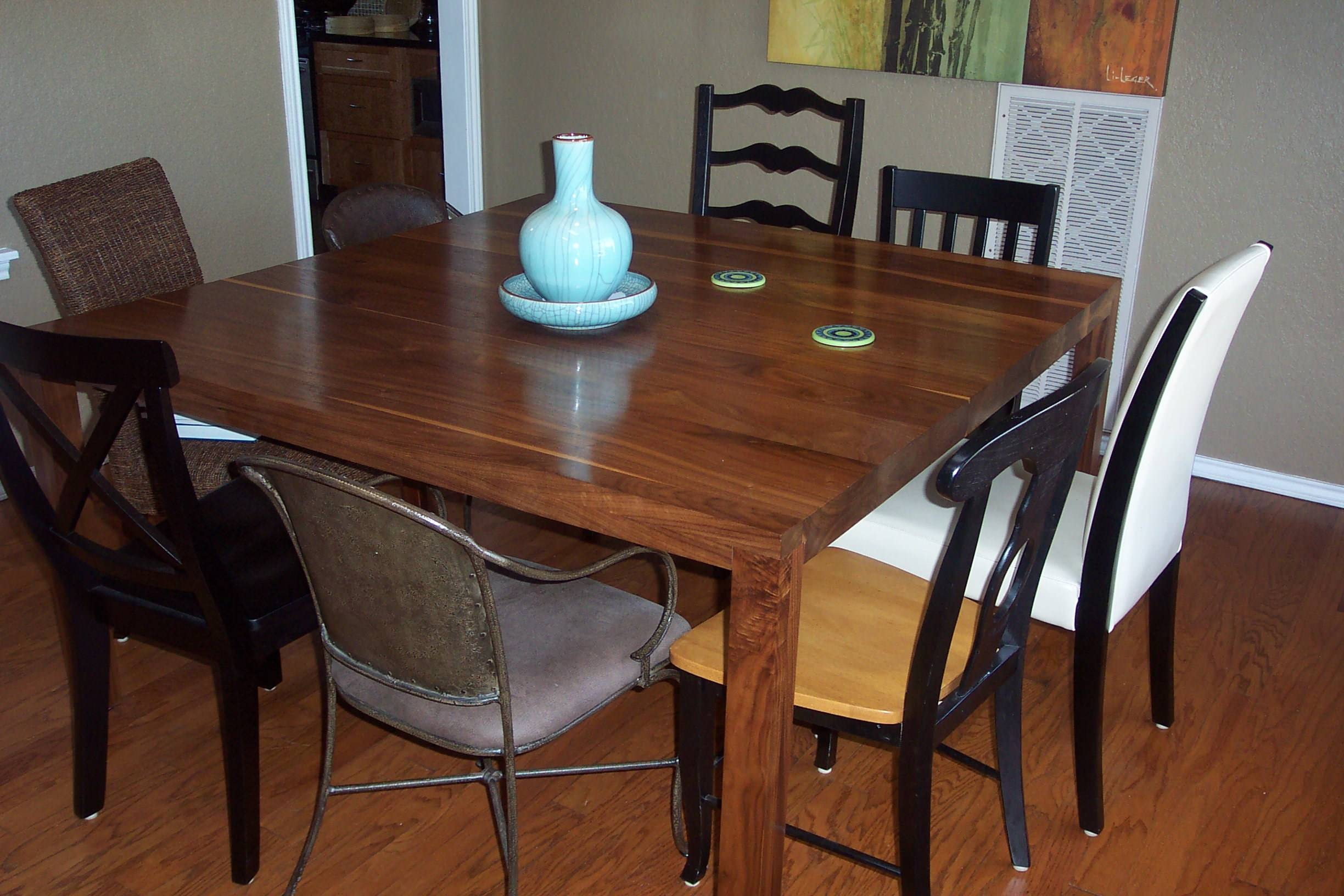 Walnut dinning room table