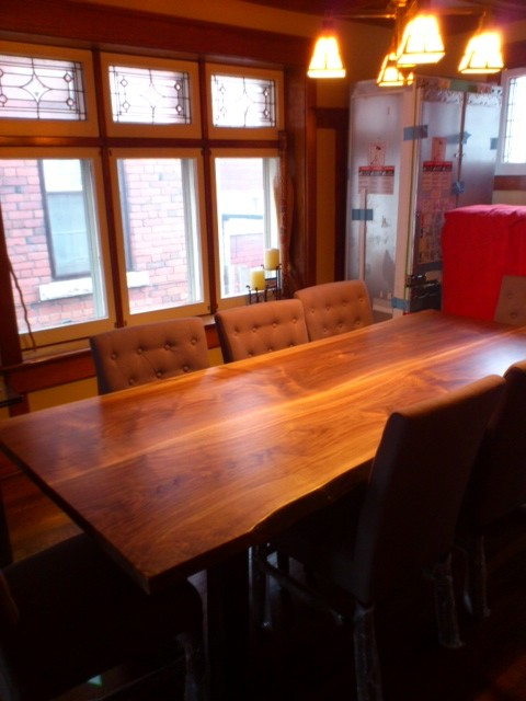 Walnut Live Edge Table Contemporary Dining Tables Toronto By Tree Gre