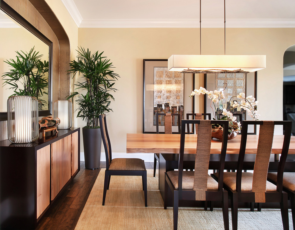 Inspiration for a contemporary dining room remodel in Orange County
