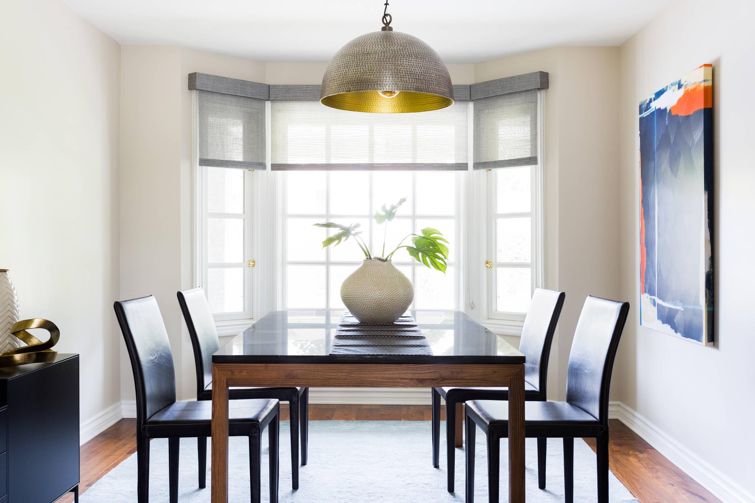 Warm & Modern Dining Room