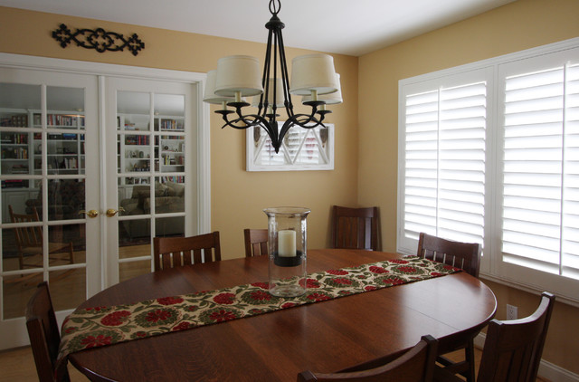 warm dining room - traditional - dining room - los angeles -