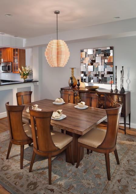 Washington, DC Townhouse contemporary-dining-room