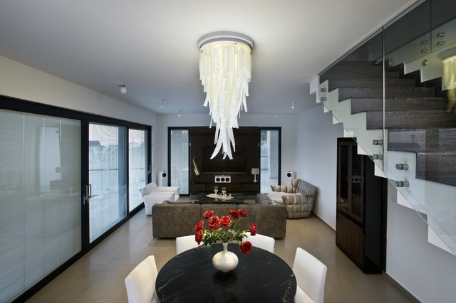 Waterfall Chandelier Transitional Dining Room New York by – Dining Room Chandeliers Transitional