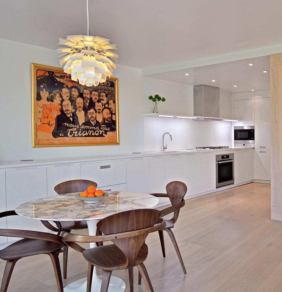 Minimalist kitchen/dining room combo photo in DC Metro