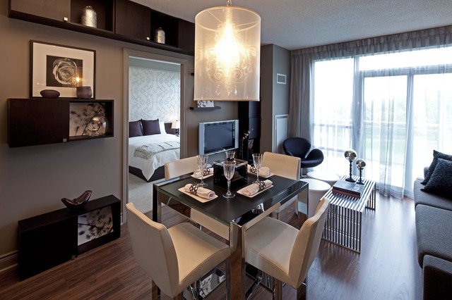waterscapes condominium suite - contemporary - dining room