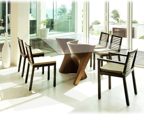 wave table by cobonpue contemporary dining room tampa by home
