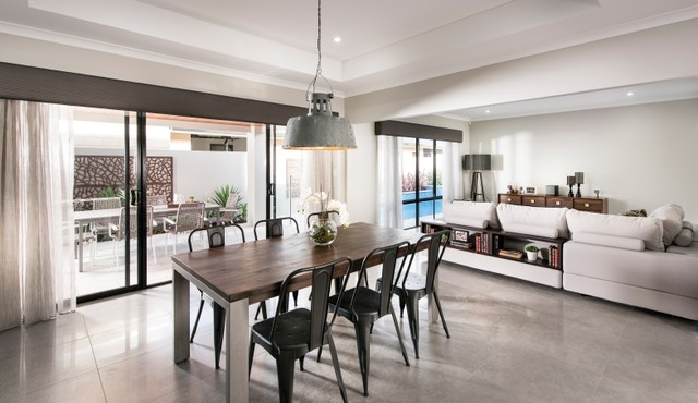 Perfect Wellard Display Home   Perth Industrial Dining Room Part 15