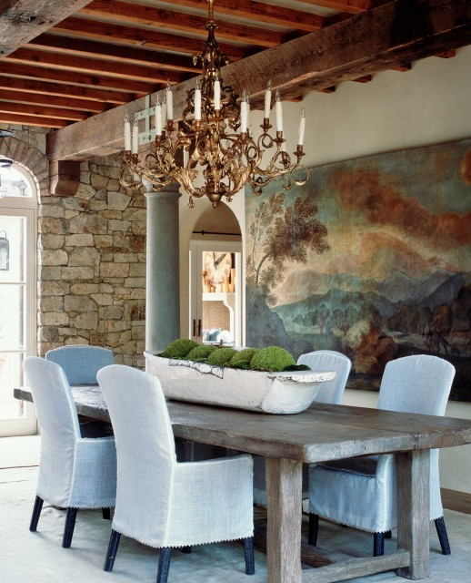 Wendi Young Design rustic-dining-room